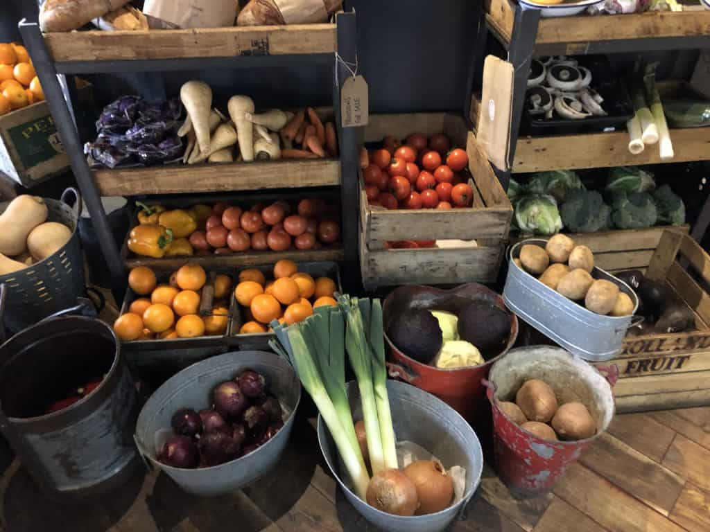 Sustainable food in local supermarket